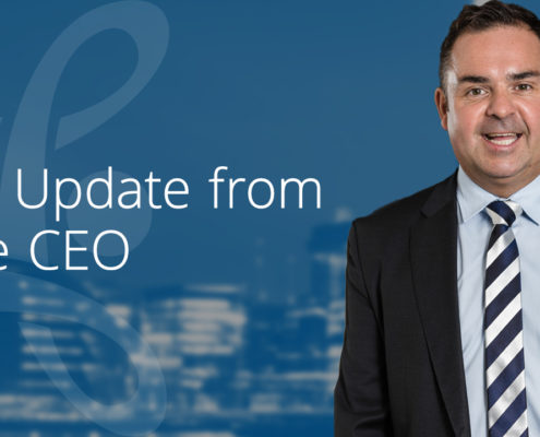 update from the CEO
